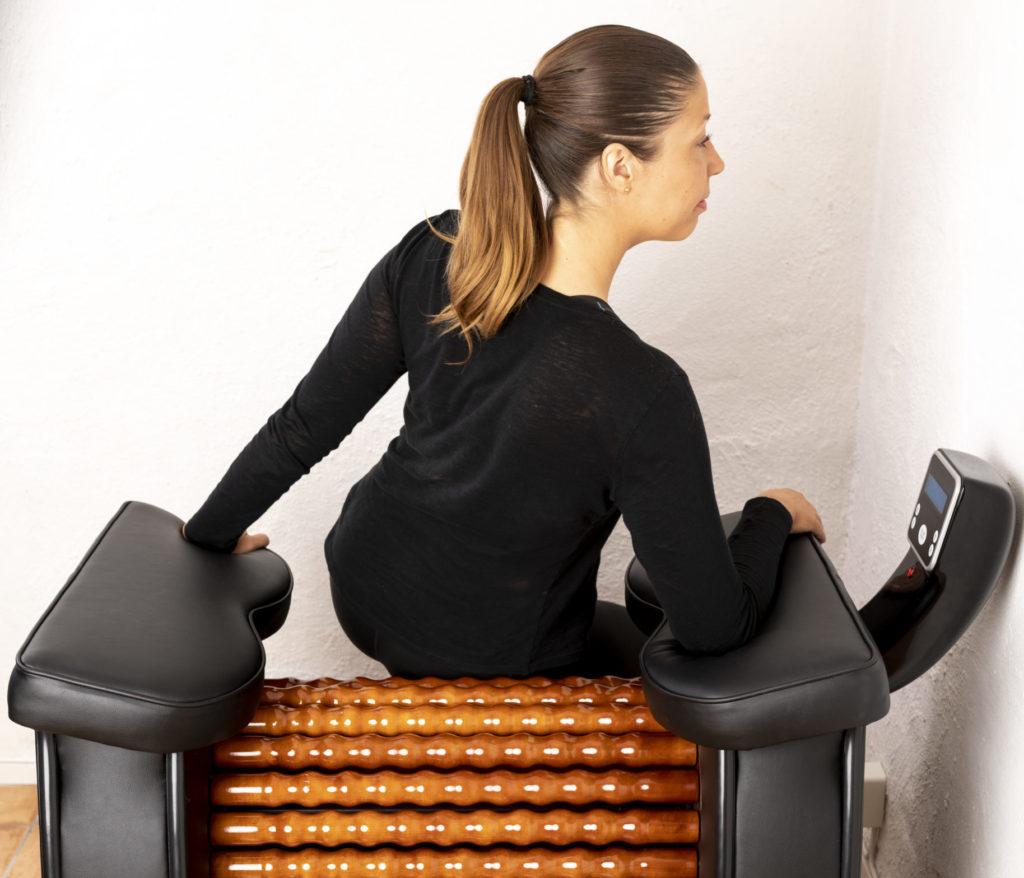 13. Buttocks upper right - Heal Wheel -full body massage machine