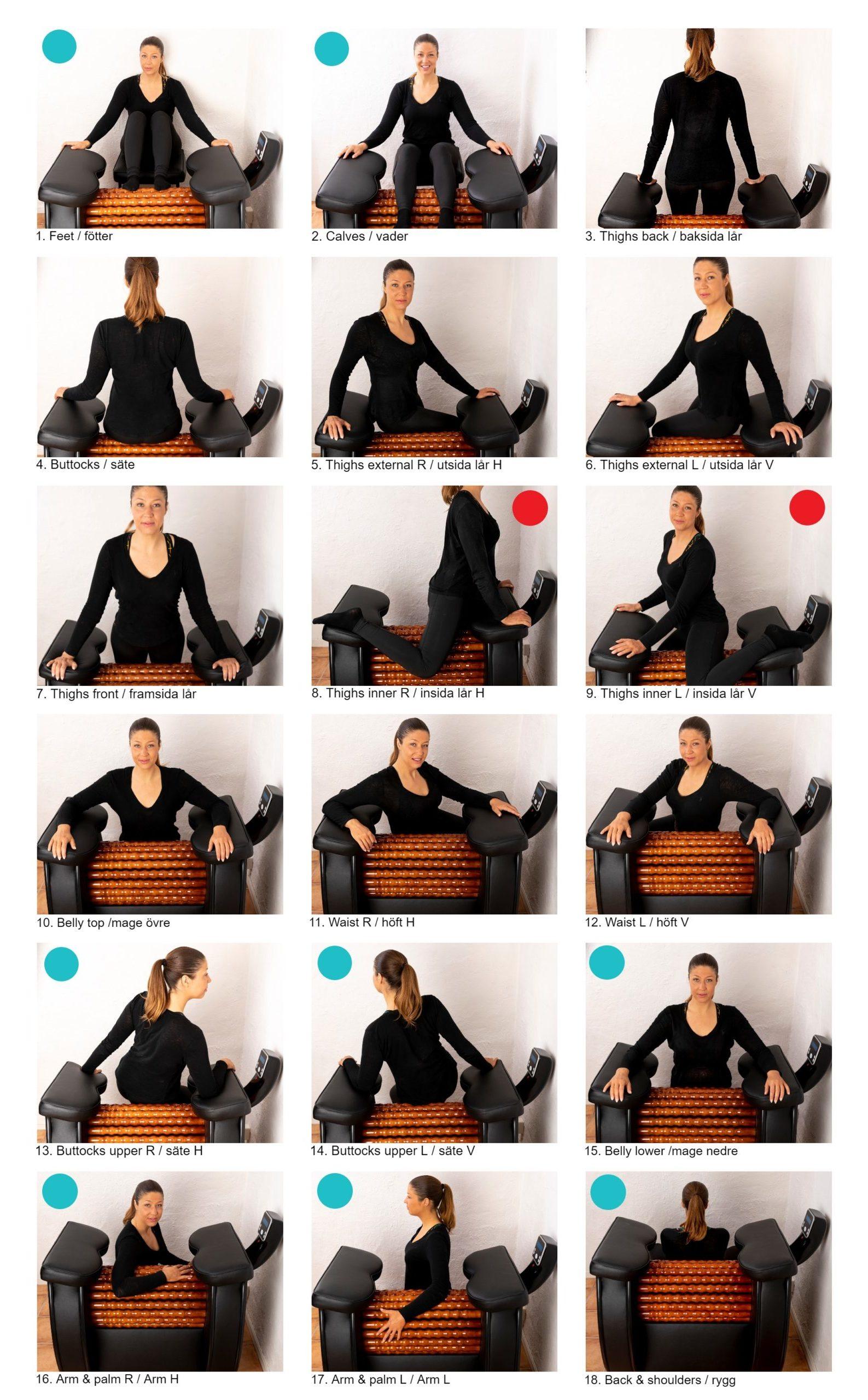 HealWheel Positioner massage och cellulitbehandling